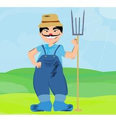 Cartoon farmer character vector