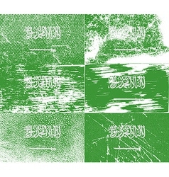 Flag of saudi arabia with old texture vector