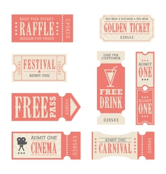 Festival and carnival tickets vector