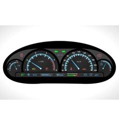 Car dashboard isolated vector