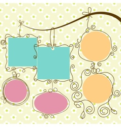 Cute frames hanging vector