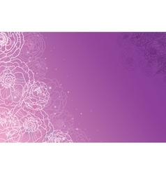 Purple glowing flowers magical horizontal vector