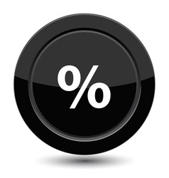 Button with percent vector