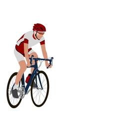 Racing bicyclist vector