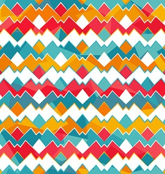 Colored zigzag seamless pattern vector