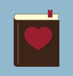Love heart book vector