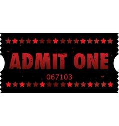 Grunge movie ticket vector