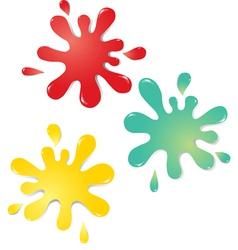 Colorful drops vector