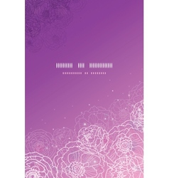 Purple glowing flowers magical vertical template vector