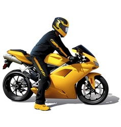 Yellow bike vector
