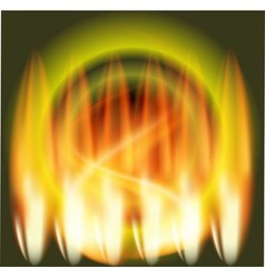 Abstract fire flames green background vector