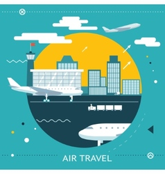 Travel lifestyle concept of planning a summer vector