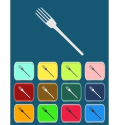Fork emblem - icon isolated vector