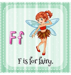A letter f for fairy vector