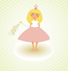 Little princess congratulations card vector