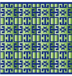 Green geometric retro background vector