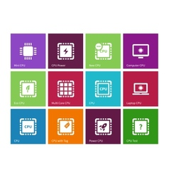 Electronic chip icons on color background vector