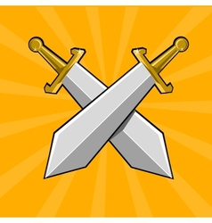 Two crossed swords vector