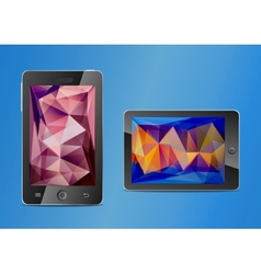 Mobile phone and touchpad vector