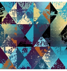 Grunge polygonal vector