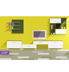 Abstract flat interior desing vector