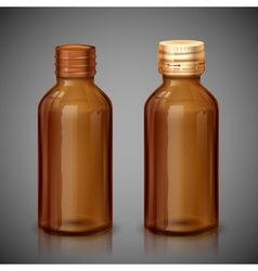 Medicine syrup bottle vector