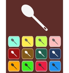 Spoon emblem - icon isolated vector