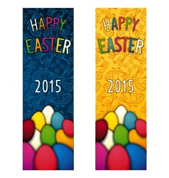 Easter holiday flyer vector