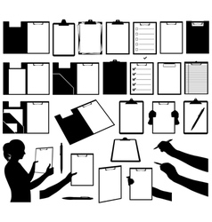 Set of different clipboards vector