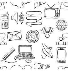 Sketch seamless communication pattern vector