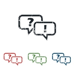 Question answer grunge icon set vector
