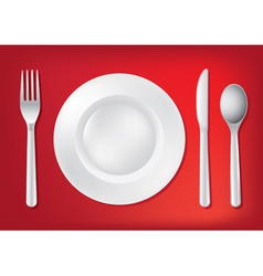 Dining table set up vector