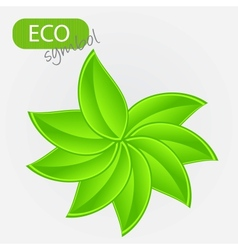 Environmental icon with plant vector