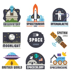Space logo set vector
