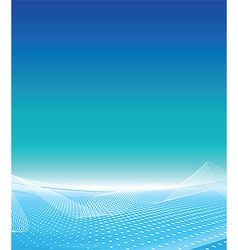 White wave business template vector