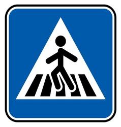 Pedestrian sign resize vector