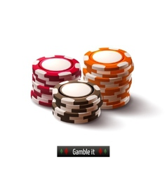 Casino chips isolated vector
