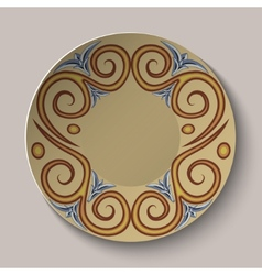 Background of dishes with a circular pattern in vector