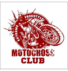 Motocross sport emblem vector