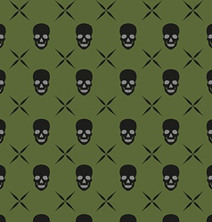 Green skull background vector