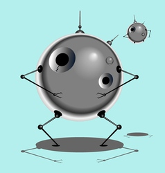 Robot and baby robot vector