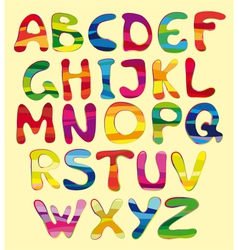 Cheerful alphabet vector