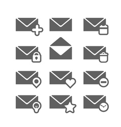 Different mailing web icons isolated on white vector
