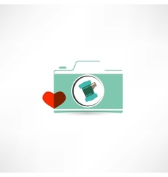 Love photography icon vector