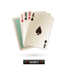 Game card isolated vector