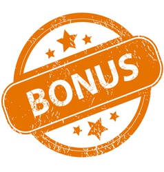 Grunge bonus logo vector