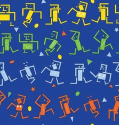 Dancing robots vector