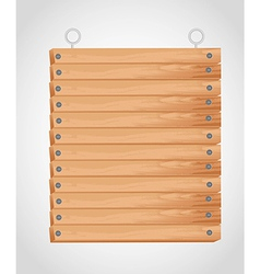 Rectangular wooden board with grommets for hanging vector