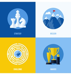 Concepts for strategy mission challenge awards vector