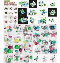 Mega set of modern business infographic vector